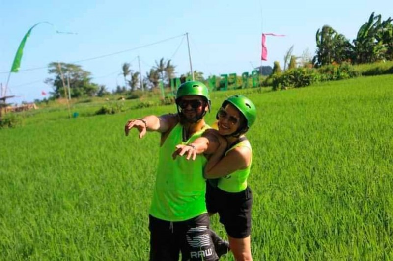 Bermain ATV Bali Melewati Persawahan Ubud